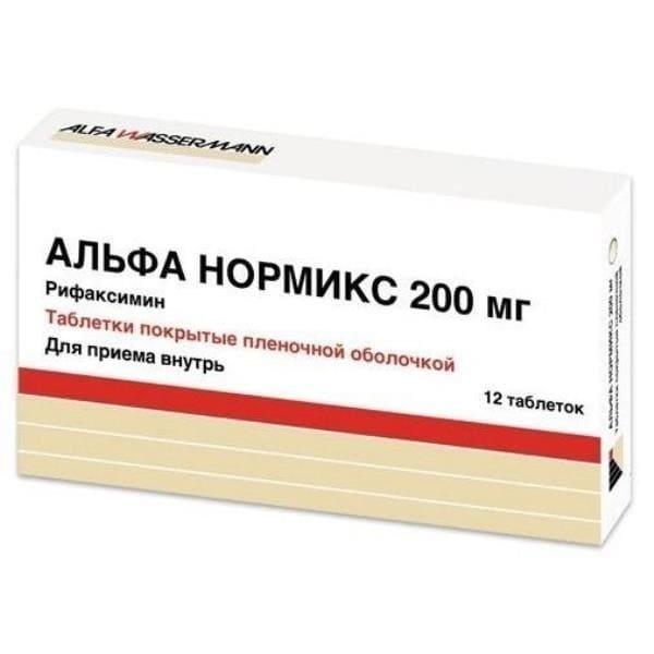 Alpha normix 200 mg 12 tablets