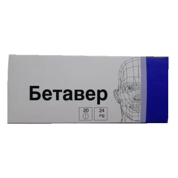 Betaver 24 mg 20 tablets