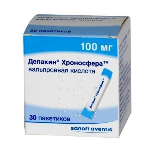 Depakine chronosphere granules 100mg 30 package