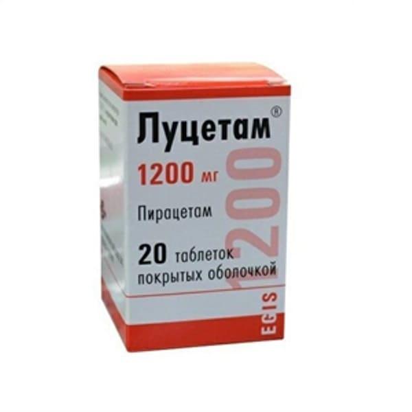 Lucetam 1200 mg 20 tablets