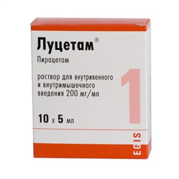 Lucetam solution for injection 200 mg/ml 5 ml 10 vials