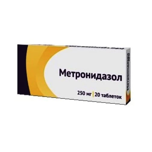 Metronidazole 250 mg 20 tablets