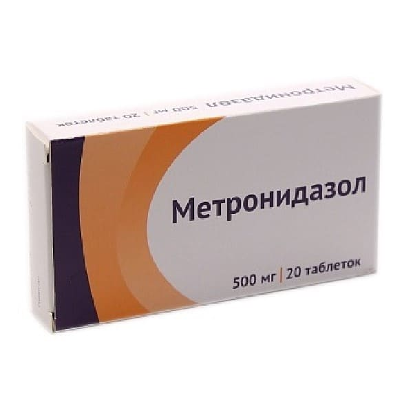 Metronidazole 500 mg 20 tablets