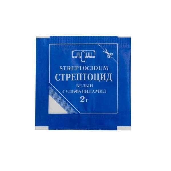 Streptocide powder 5 packets of 2 gr