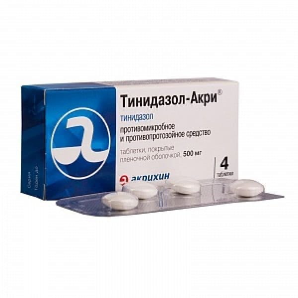 Tinidazole 500 mg 4 tablets