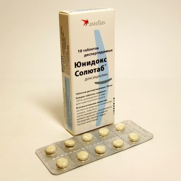 Unidox Solutab 100 mg 10 tablets