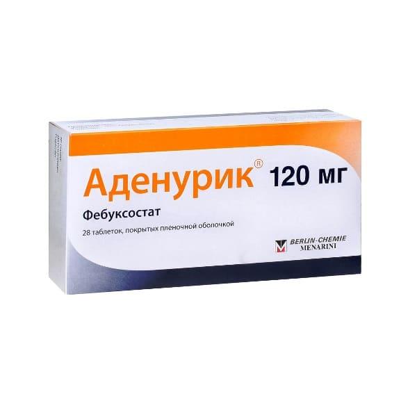 Adenuric 120 mg 28 tablets