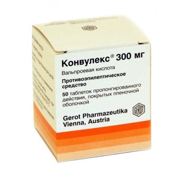 Convulex 300 mg 50 tablets