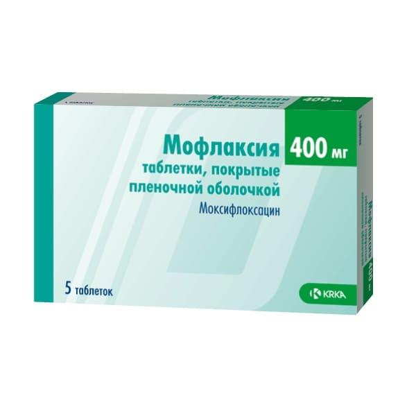 Moflaxia (Moxifloxacin) 400 mg 5 tablets