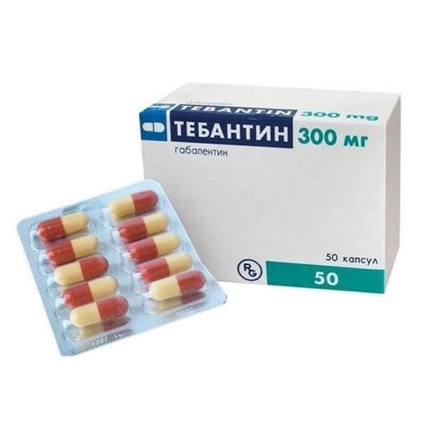 Tebantin 300 mg 50 capsules