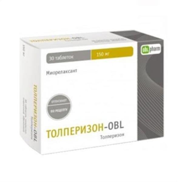 Tolperisone 150 mg 30 tablets