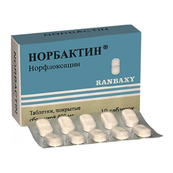 norbaсtin 400 mg 10 tablets